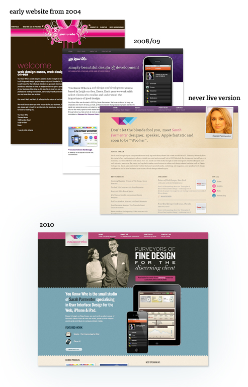 Various You Know Who Site Designs