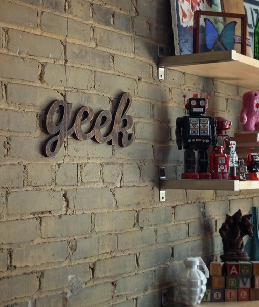 Wooden Geek Sign
