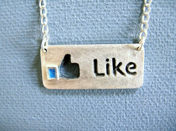 Facebook Like Necklace