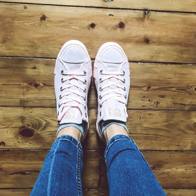 Really loving these blush pink converse from officeshoes  howhellip