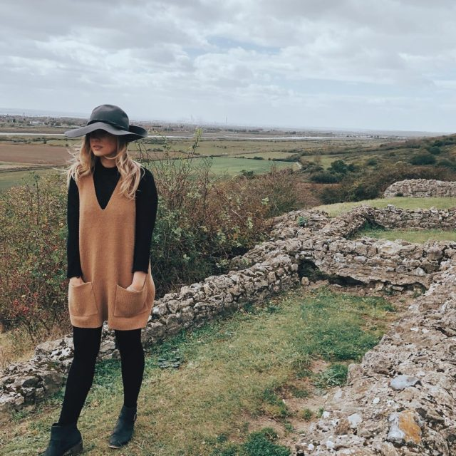 Today I went for a blustery walk at Hadleigh Castlehellip